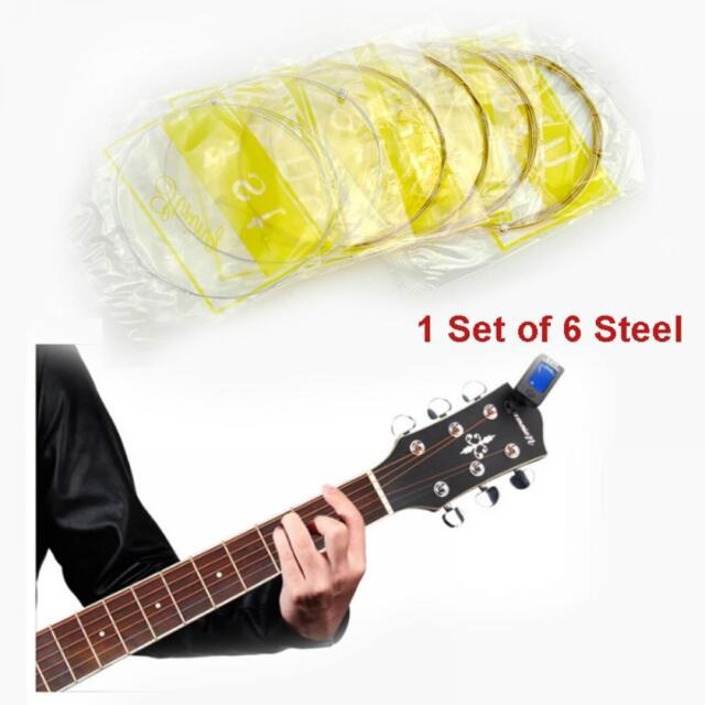 6pcs Steel For Acoustic Guitar Acoustic Strings Music Guitar