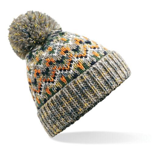 Beechfield B458 Blizzard Pom Pom Winter Warm Unisex Beanie
