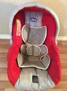 chicco keyfit 30 infant car seat cushion cover canopy straps cover red beige ebay. Black Bedroom Furniture Sets. Home Design Ideas
