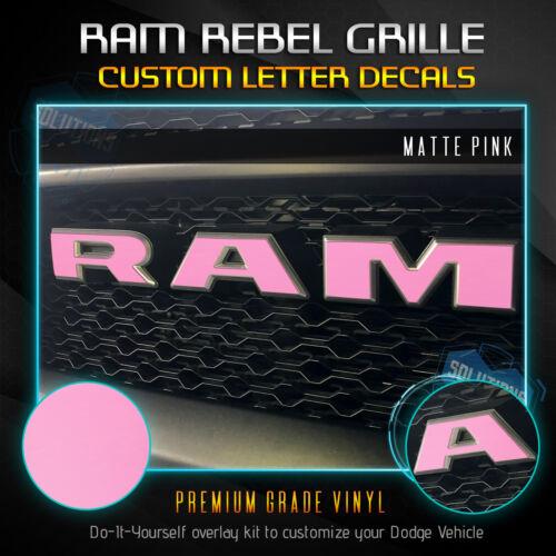 Ram Rebel Fit RAM Grille Emblem Overlay Vinyl Decal 19 2019 Flat Matte