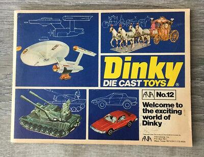 DINKY TOYS ORIGINAL 1974 ISSUE No 9 COLLECTORS CATALOGUE MECCANO LTD PRINT 1973