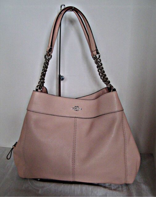a05e6cff2a Coach F28998 Lexy Shoulder Bag With Chain Strap Pebble Leather Light ...
