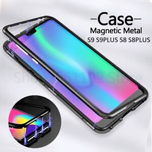 newest dbd67 ff629 Details about 360 Magnetic Adsorption Metal Case Samsung Galaxy S9/S8  Tempered Glass Cover -LS