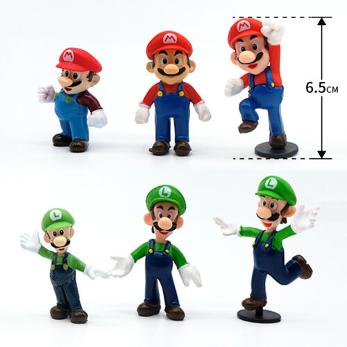18 pcs Super Mario  Figur Set Q Ausführung Puppen Sammlung Klassisch Spielzeug