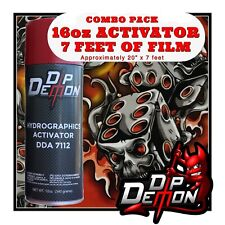 16oz Hydrographic Film Activator Red Flaming Dice Skulls Hydro Dipping Wizard