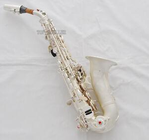 professional new taishan curved soprano saxophone satin silver sax italian pads ebay. Black Bedroom Furniture Sets. Home Design Ideas