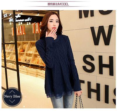 Women Long Sleeve Loose Cardigan Knitted Sweater Twisted Jumper Knitwear Outwear