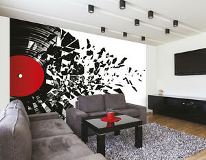 ohpopsi Smashed Vinyl Record Music Wall Mural 603404669912 eBay
