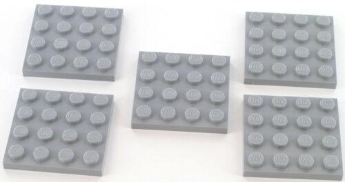 hellgrau 4243797 NEU 3031 5 Stück LEGO Stein Platte 4X4 grau