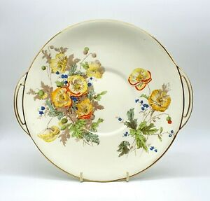 Art Deco Royal Doulton porcelain sandwich plate. Pattern Marie.