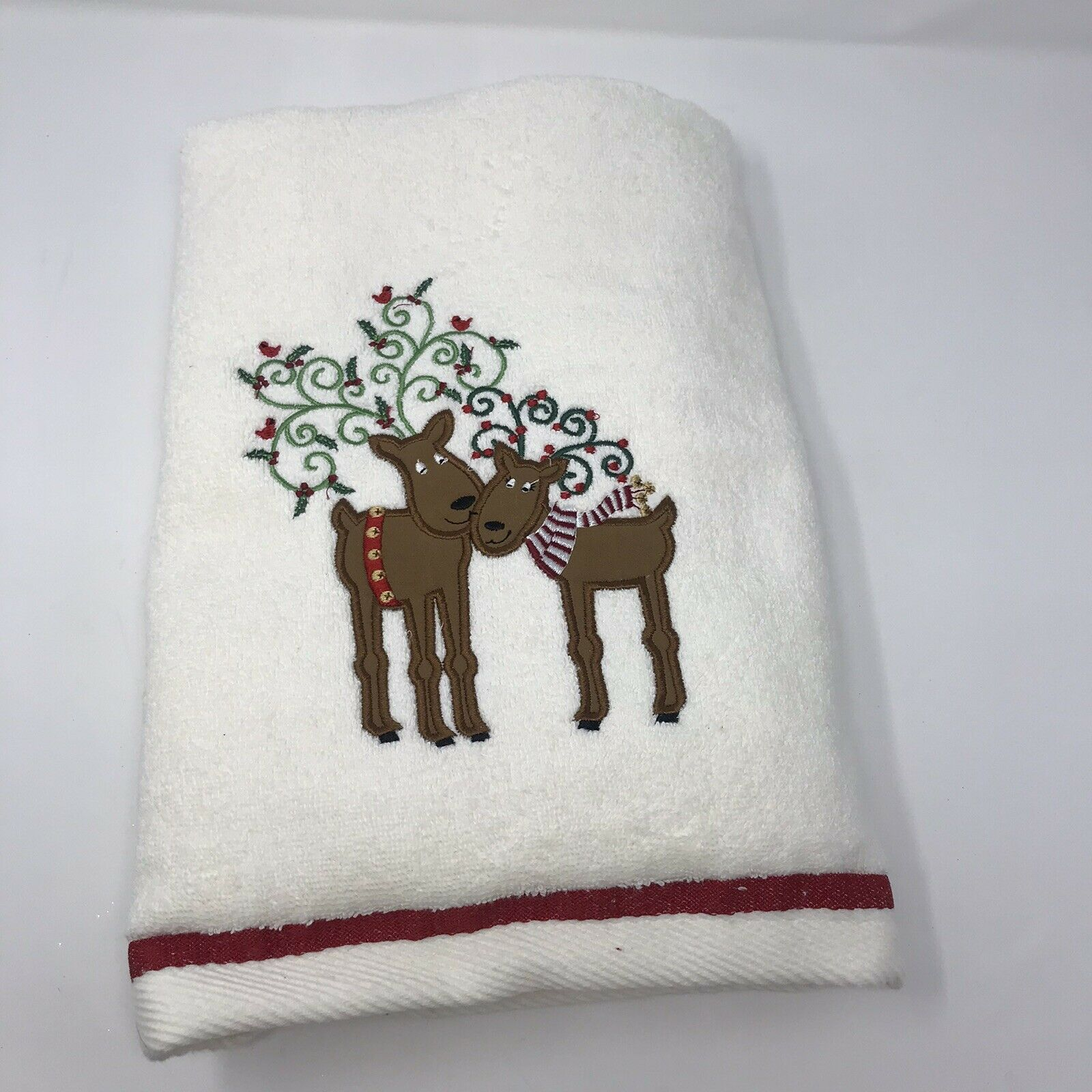 Jingles & Joy Reindeer Couple Bath Towel