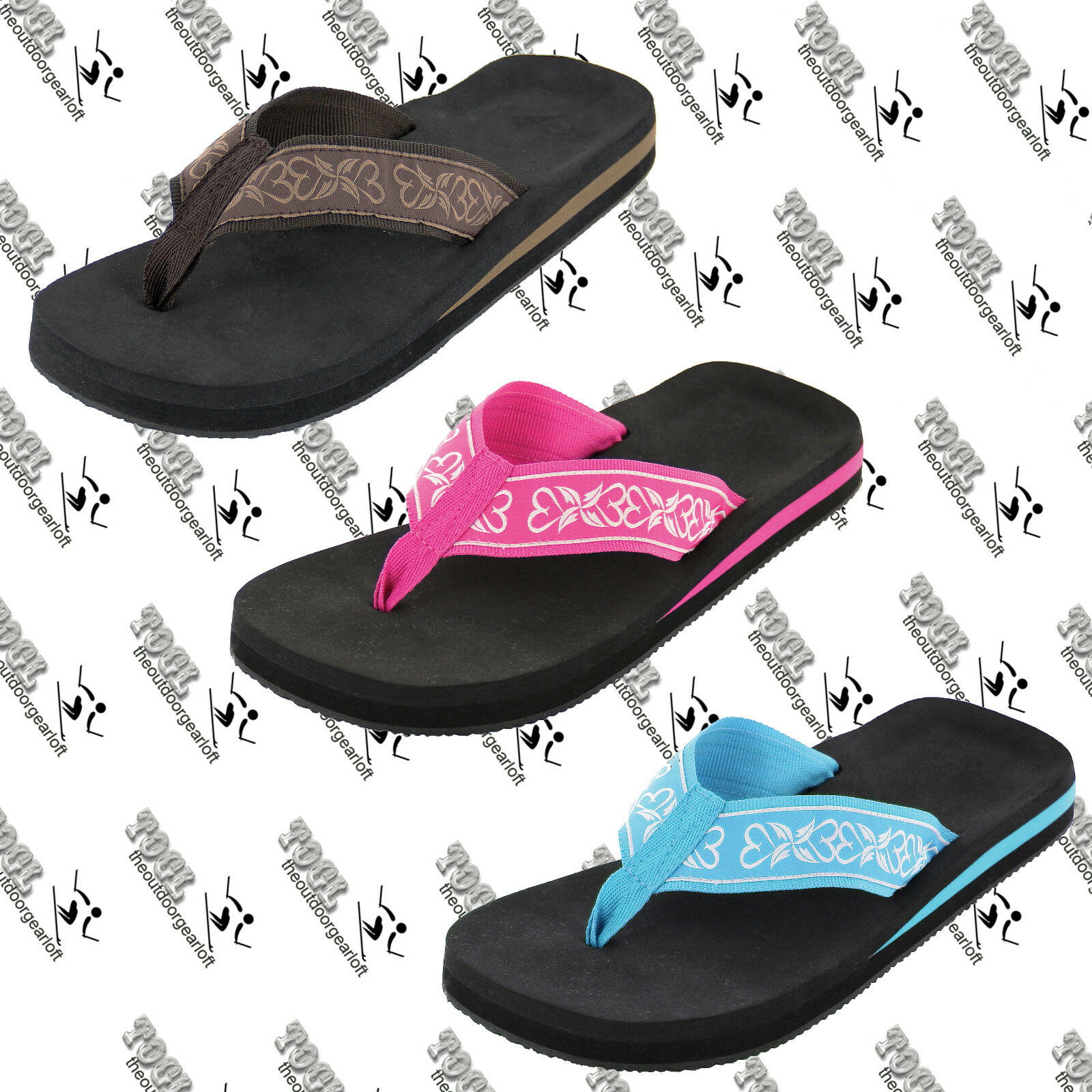 BEACH US BASICS 210877W WOMENS WOVEN NYLON FLIP FLOP THONG US BEACH 8, MINOR INSOLE DENTS e4cf44