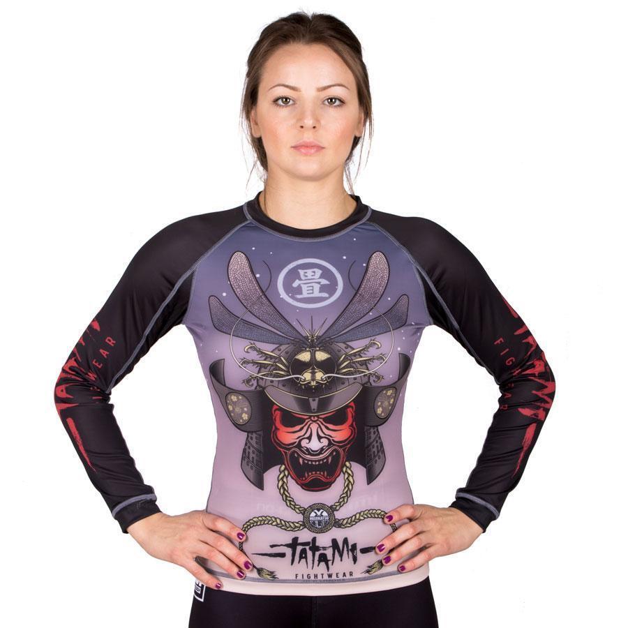 Tatami Dragon Fly V2 Ladies BJJ Rash Guard Long Sleeve MMA Womens Compression