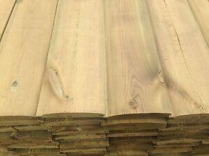 4.8m Premium Log Lap T&G Cladding 125x25mm - tanalised - only £1.50/m