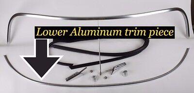 Spyder or Speedster WINDSHIELD LOWER TRIM Highly Polished Aluminum BECK  Porsche
