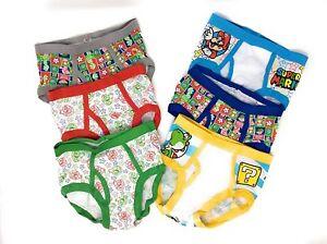 Super-Mario-Bros-6-Pack-Boys-Briefs-Underwear-Mario-Luigi-Yoshi