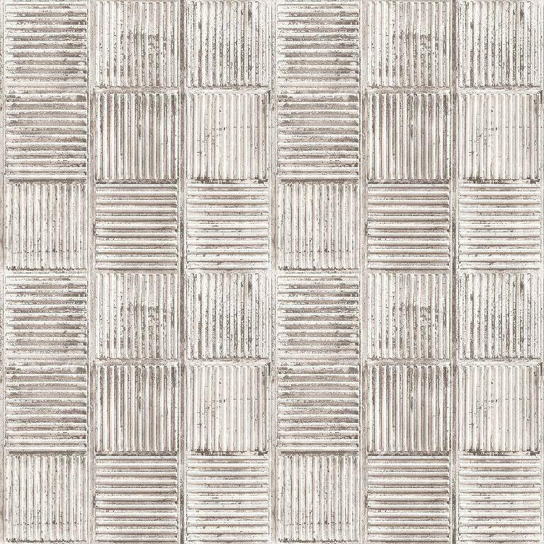 Essener Tapete Grunge G45332 Quadrato Rip silver Carta da Parati Non Tessuta