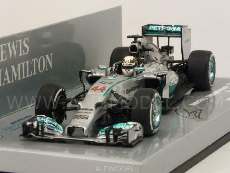 Mercedes W05 AMG Hybrid Winner GP Bahrain 2014 World C 1 43 MINICHAMPS 410140244