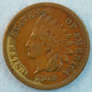 1879-Indian-Head-Cent-Penny-Very-Nice-Old-Coin-LIBERTY-DIAMONDS-Fast-S-amp-H-436