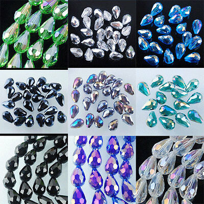 Free shipping 10x14mm Top Quality Czech Crystal Faceted Drop Loose Beads BA001