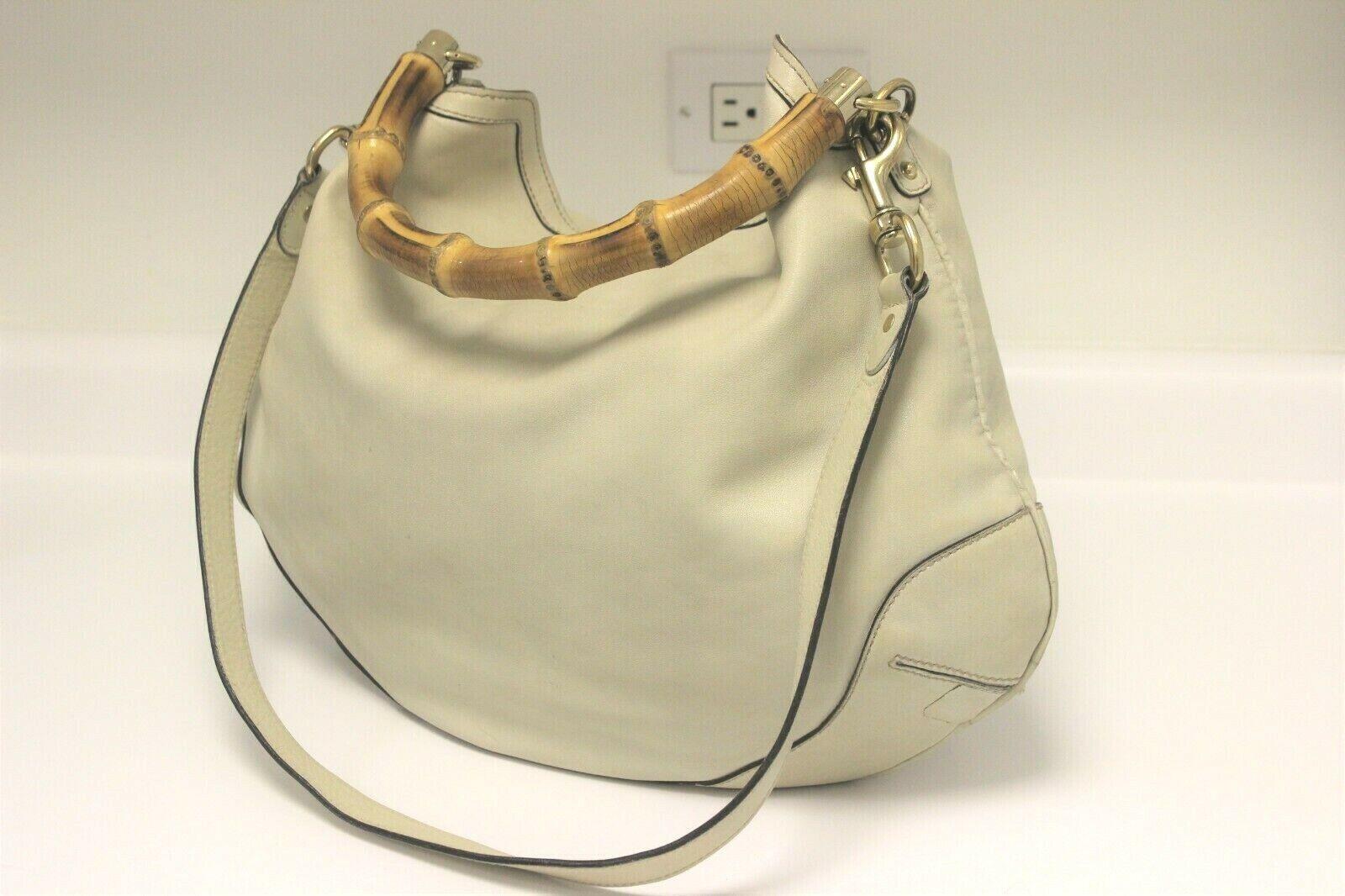 GUCCI Calfskin Peggy Bamboo Top Handle Hobo Bag -… - image 2