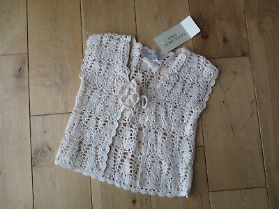 Bnwt Piuttosto Laura Ashley Girls Crema All'uncinetto Bolero Età 4 Anni-mostra Il Titolo Originale