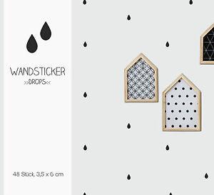 """Wandsticker, Wandtattoo """"Drops"""" Tropfen, Regentropfen 48 Stück - Hattingen, Deutschland - Wandsticker, Wandtattoo """"Drops"""" Tropfen, Regentropfen 48 Stück - Hattingen, Deutschland"""