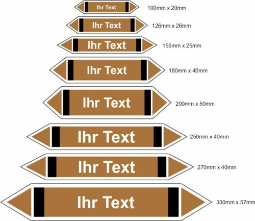 Pfeile Medienpfeile Ihr Text Richtungspfeile Rohr Kennzeichnung