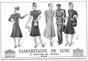 PUBLICITE de presse pour LA SAMARITAINE signée Henri Desmé 1940