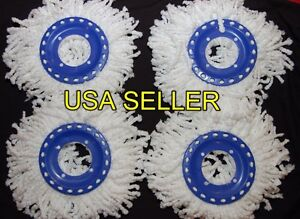4-Replacement-Mop-Head-Refill-For-Magic-Mop-360-Spin-Mop-Mophead-USA-Shipping