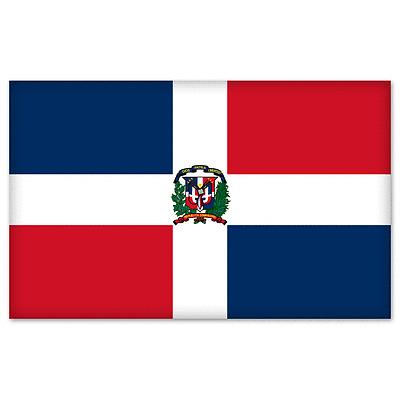 Dominican Republic Country Flag Reflective Decal Bumper Sticker