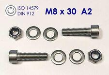 5 Stück Sechskantschraube M8x80 Edelstahl A2 Mutter M8 A2