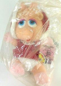 Vintage-1988-Baby-Miss-Piggy-Plush-Doll-McDonald-039-s-Jim-Henson-039-s-Muppets-9-034-New