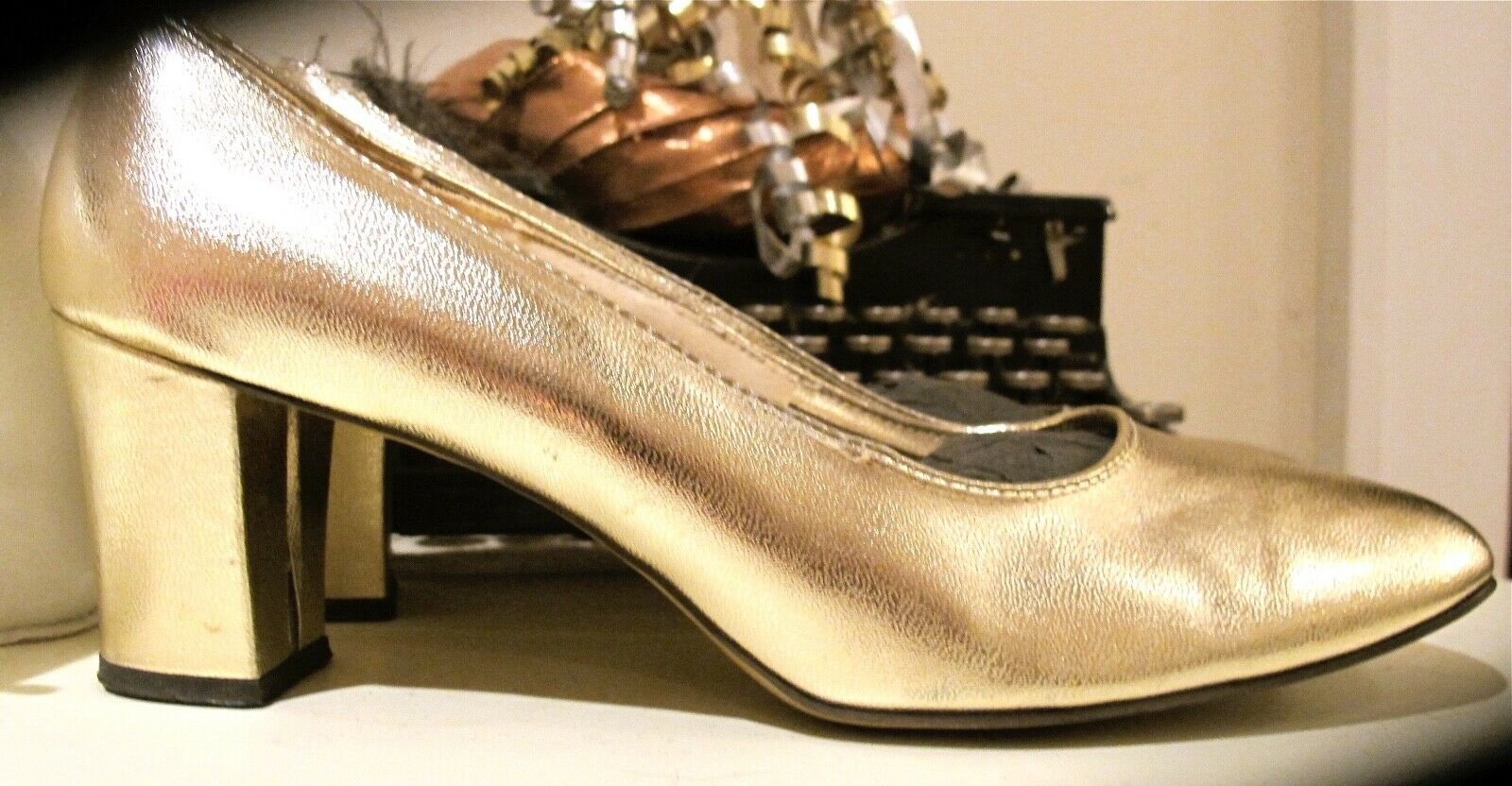 Balenciaga gold gold gold 100% leather - Jill Stuart Vintage  - pumps 7.5-8 d024db