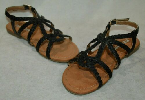Report Girl/'s Constance GP Black Braided Sandals Size 11//13//1//2//3 NWB