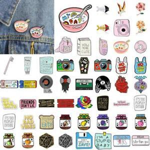 Cartoon-Lovely-Enamel-Piercing-Brooch-Pin-Collar-Decor-Badge-Corsage-JewelryGift