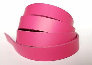 Latigo Leather Strip Blanks Hot Pink Belts Dog Collar Hat Bands Straps 60 inches
