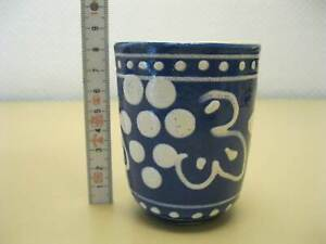 Original-DDR-Burgel-Ceramica-Taza-Con-Etiqueta-VEB-Base-Camburg-Thur
