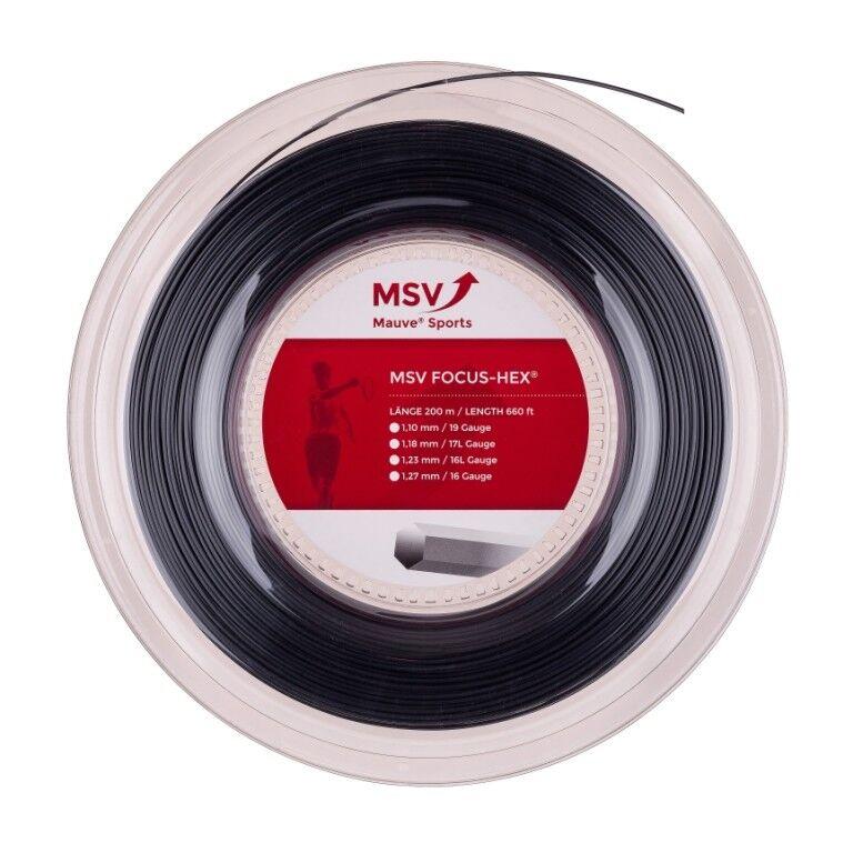 m MSV Focus Hex 200 m Rolle ø 1.18 1.23 1.27  mm Farbe Schwarz