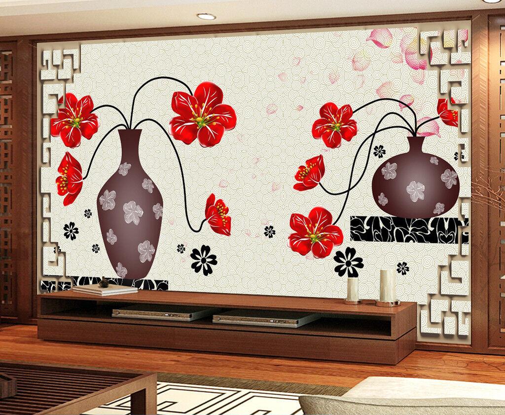 3D Vase Blaumen Muster 895 Tapete Wandgemälde Tapeten Bild Bild Bild Familie DE Jenny | Kunde zuerst  | Ein Gleichgewicht zwischen Zähigkeit und Härte  | Nicht so teuer  f04c3b