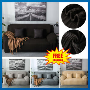 Amazing Details About Velvet Stretch Chair Sofa Covers 1 2 34Seater Protector Loveseat Couch Slipcover Home Interior And Landscaping Ponolsignezvosmurscom