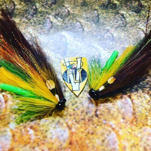 environ 2.54 cm 2 V Fly 1 in STOR Lax Alta Highlander templedog Salmon Tube Mouche /& triples