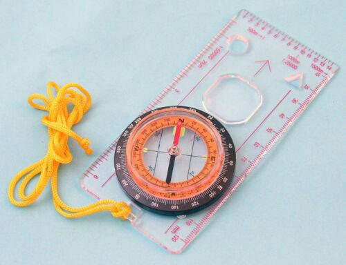 Boussole avec Acrylique Clair Plaque loupe Dial Scale