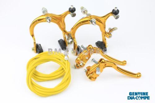MX128 Gold Brake Set Dia-Compe MX883 Old Vintage School BMX Style Brakes