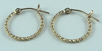 Hoop Earrings STAMPED 14k Gold Filled Glitter MADE IN USA with anti tarnish bag