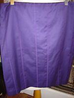 Akris Punto Size 14 Skirt Purple Cotton/elastane Lined Back Zip $395 Tag
