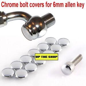 12-Chrome-bolt-covers-suit-6mm-1-4-034-allen-key-hole-M8-cap-head-Venhill-M10-bolts