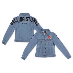 THE-ROLLING-STONES-ZIP-CODE-TOUR-Arco-Oficial-Mujer-Chaqueta-Denim