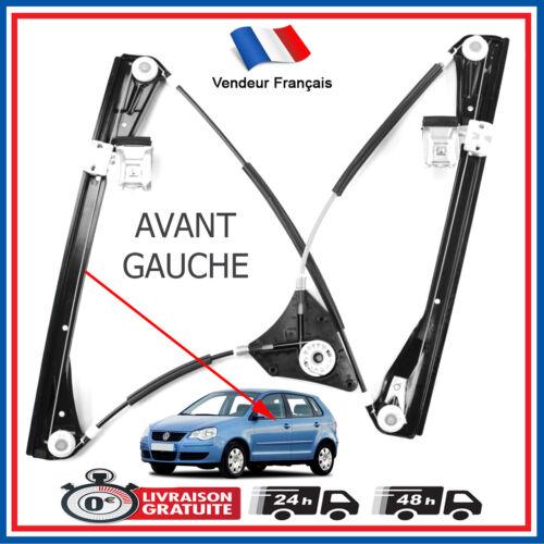 5 portes = 6Q4837461 Mécanisme de Leve Vitre Avant Gauche pour Volkswagen Polo