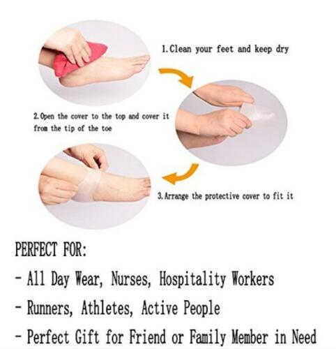 4~6 PCS Silicone Heel and//or Toe Protector Plantar Fasciitis Pain Relief Cushion
